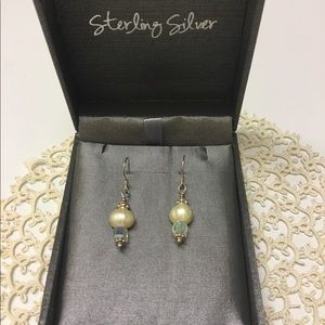NEW! Sterling & Pearl Earrings